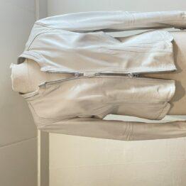 DNA leather jacket in white vooraanzicht van dit Simone Hessing Vintage item