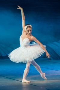 Eine Top Körperhaltung im Ballett