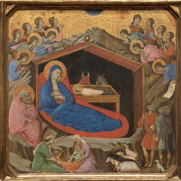 kerst Duccio_di_Buoninsegna_-_The_Nativity_with_the_Prophets_Isaiah_and_Ezekiel_-_Google_Art_Project