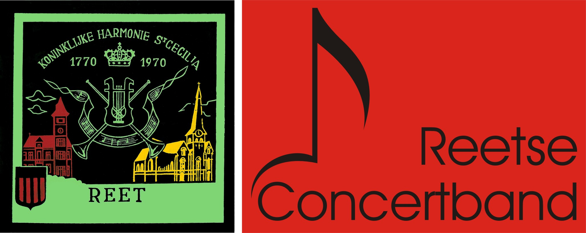 logo Harmonie Sint-Cecilia Reet en Reetse Concertband