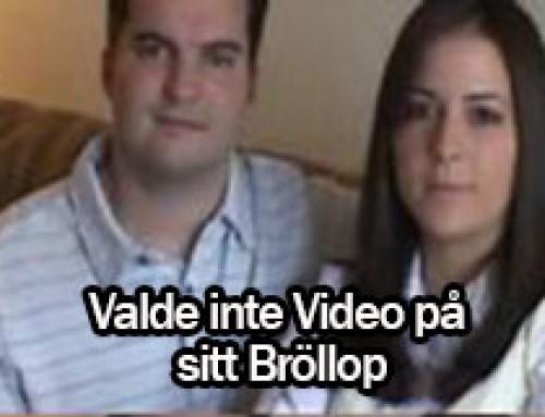 Valde inte video på sitt Bröllop