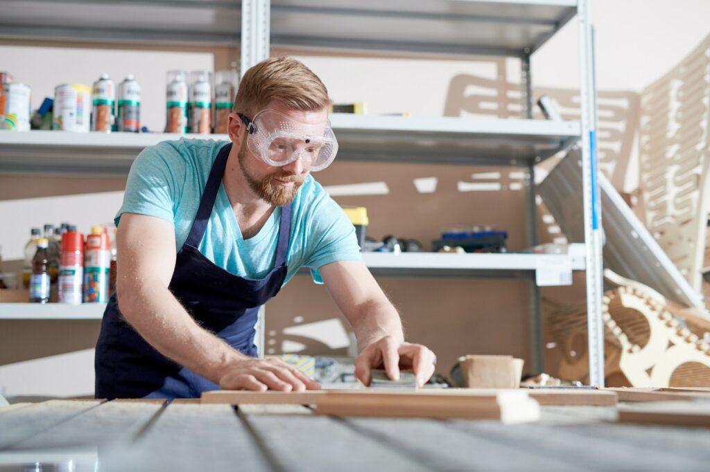 Carpenter at workshop