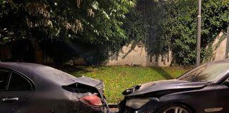 Bilar brinner i Hammarby Sjöstad 2020