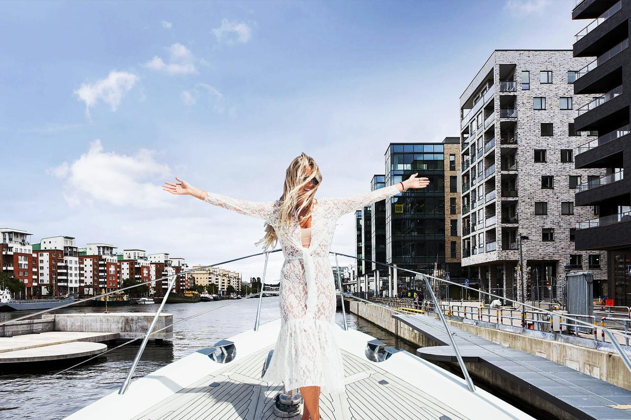 Båtliv i Hammarby Sjöstad