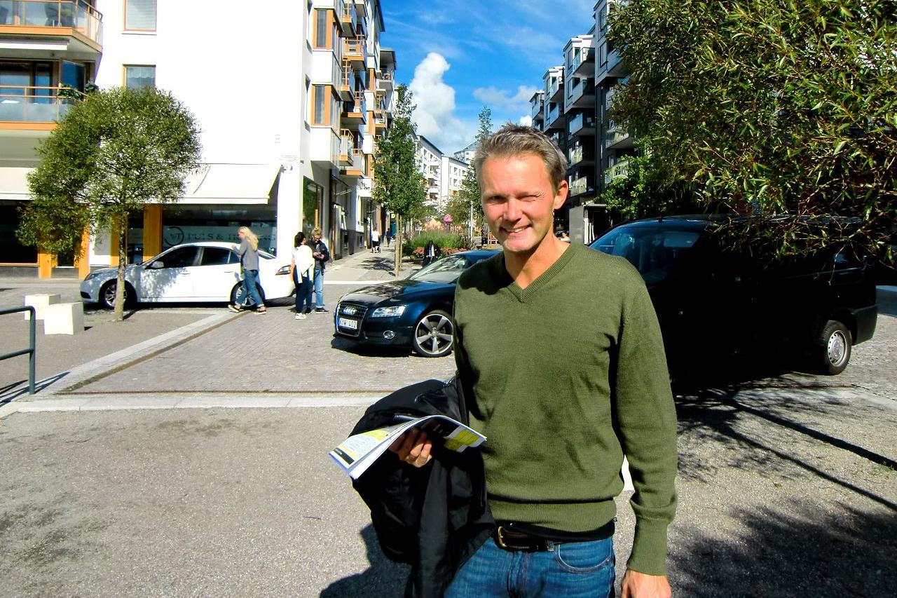 Felix Herngren i Henriksdalshamnen