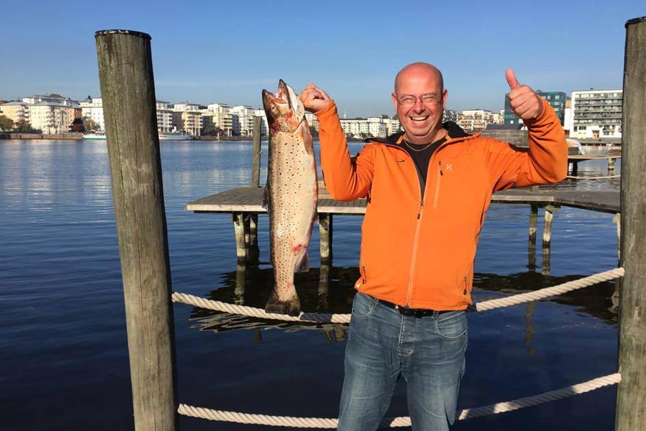 Fiskelycka i hammarby Sjöstad