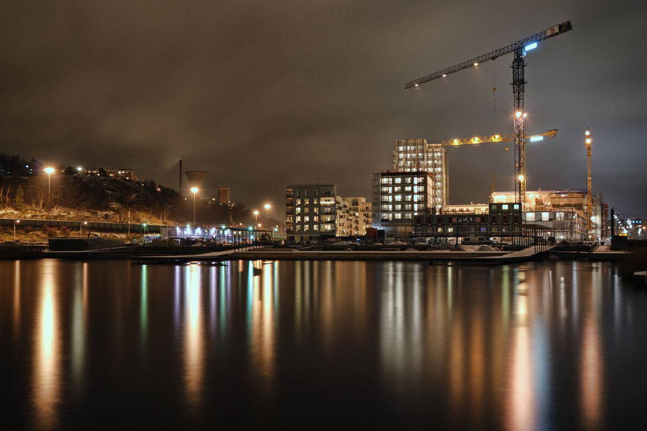 Hammarby Sjöstad byggs