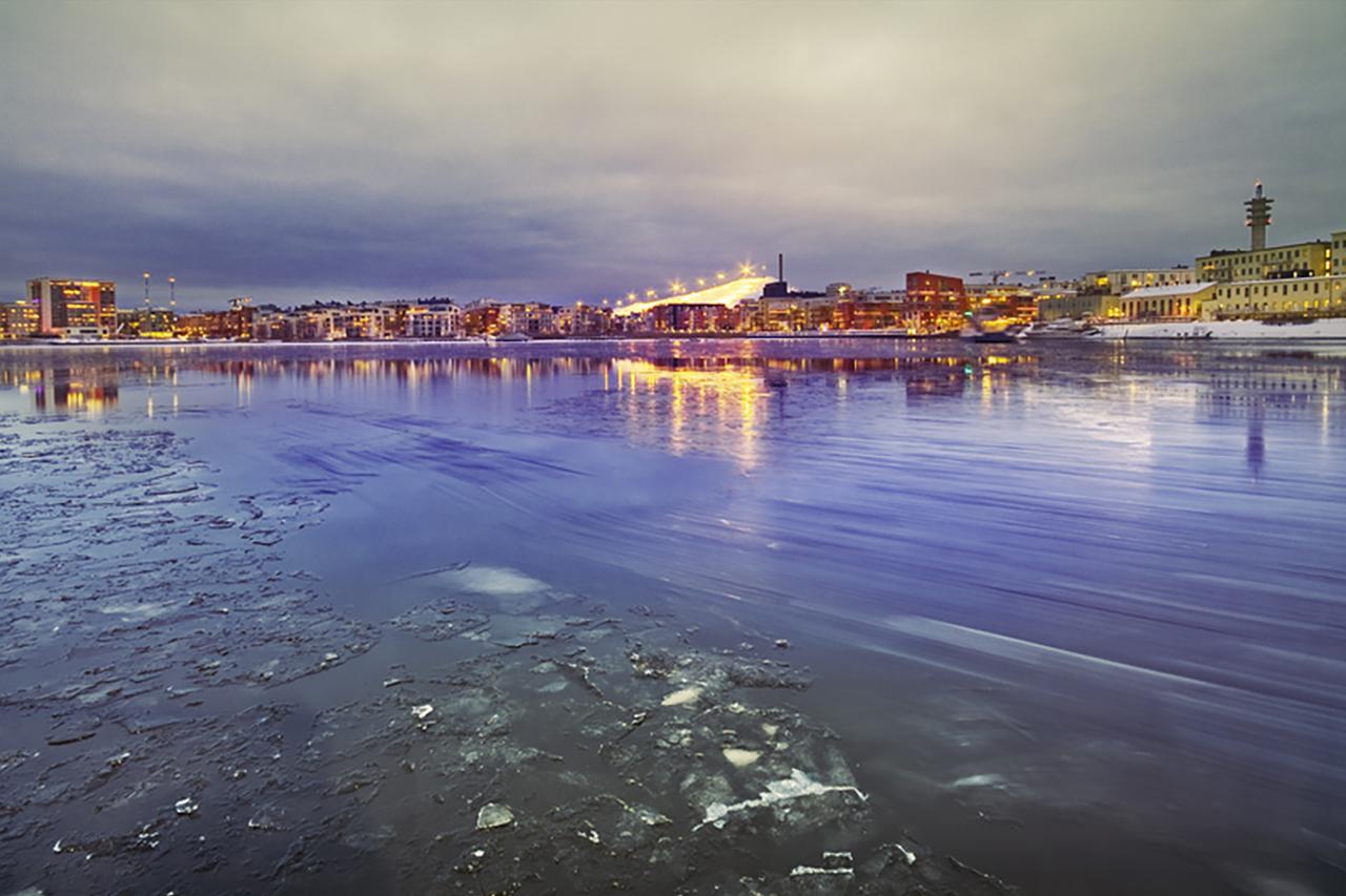 Hammarby sjö isbelagd