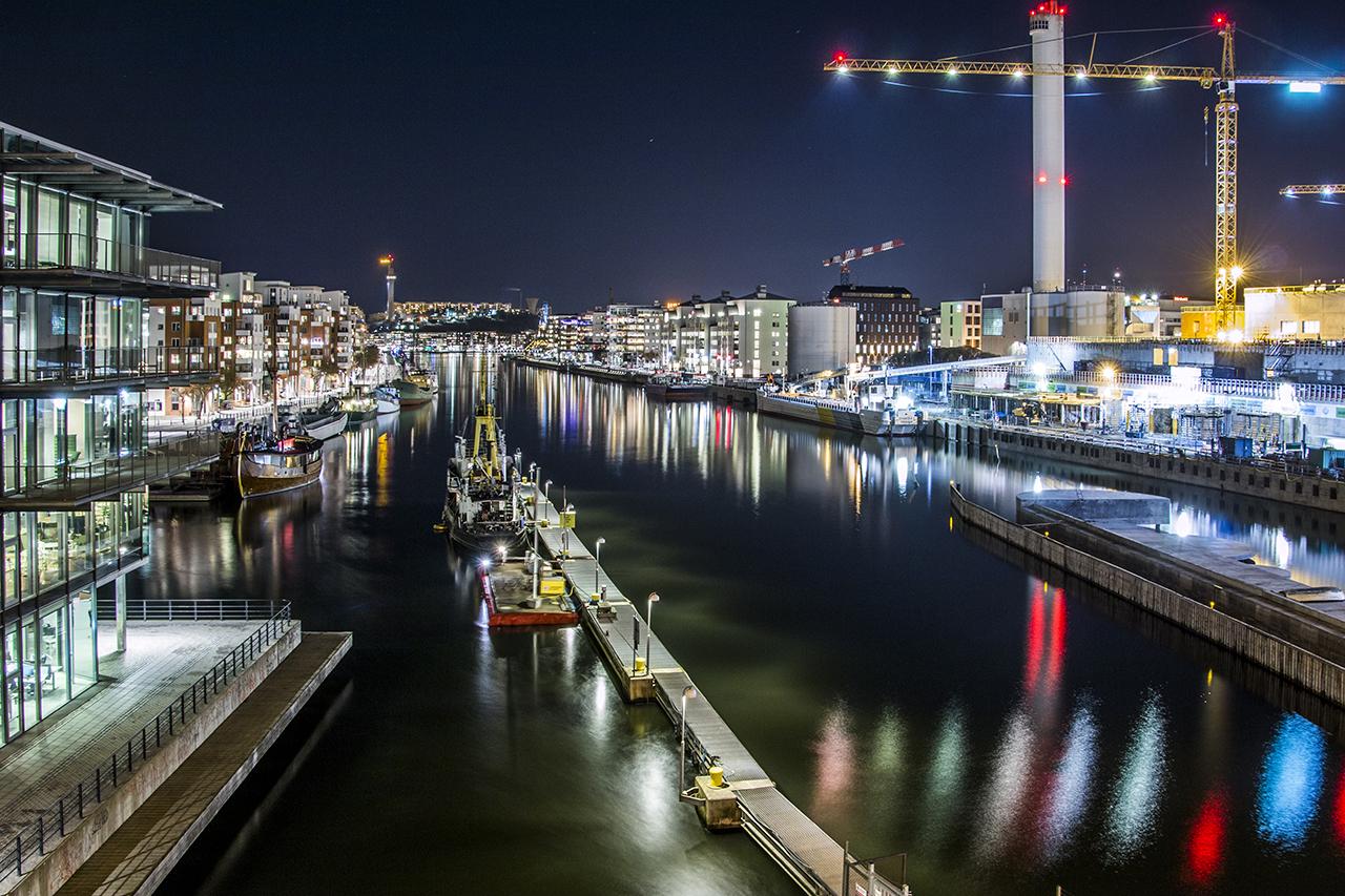 Hammarbykanal och Hammarbyverket
