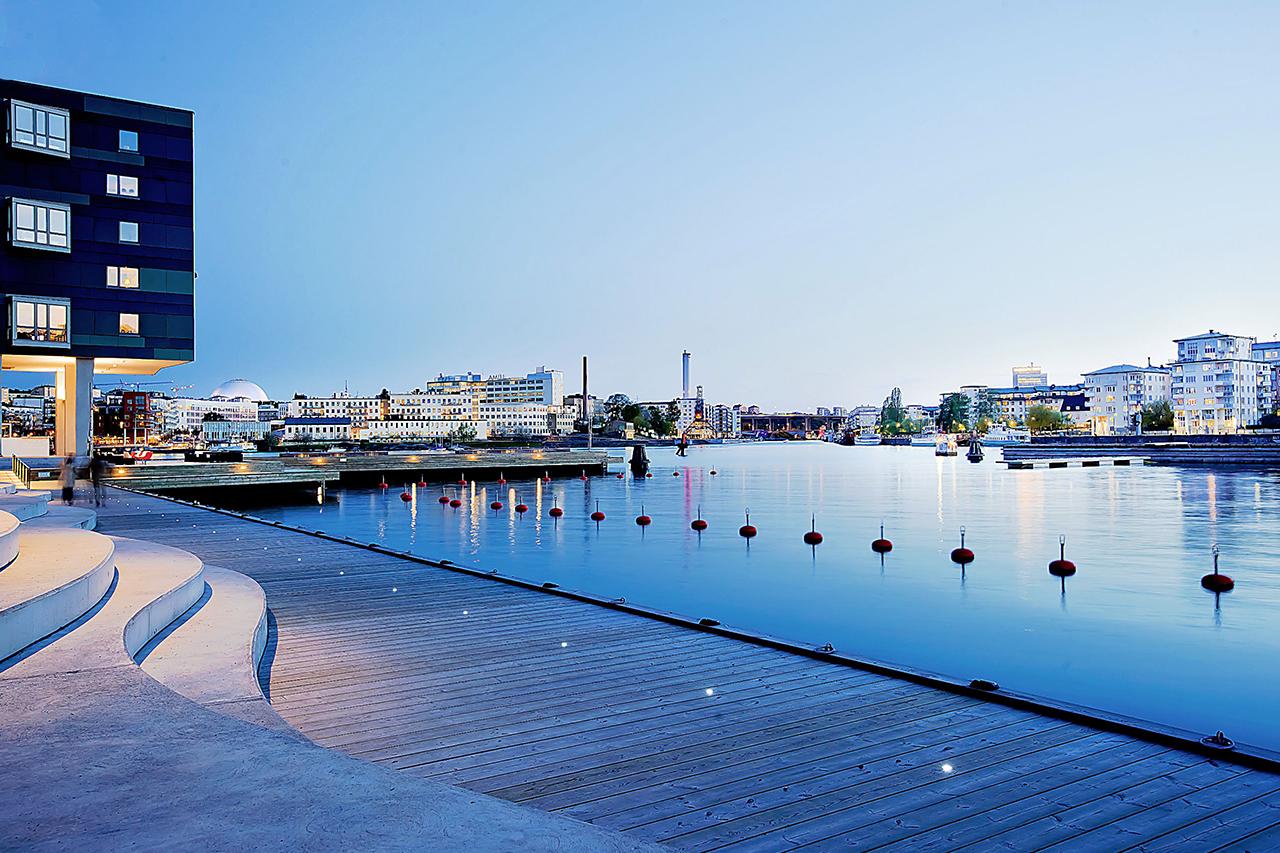 Henriksdalshamnen i Hammarby Sjöstad