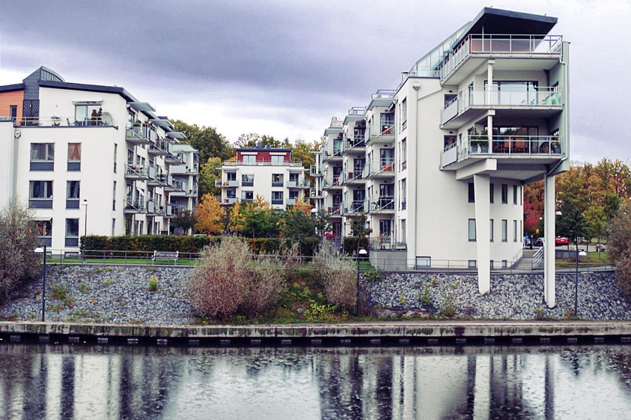 Hus på Sickla kanalgata i Hammarby Sjöstad