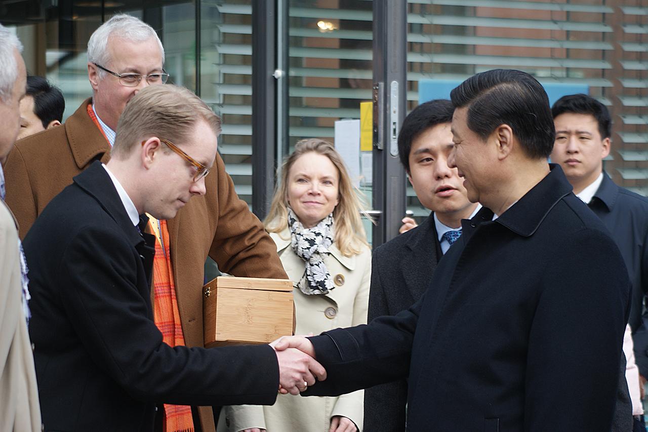 Kinas president på besök i Sjöstaden