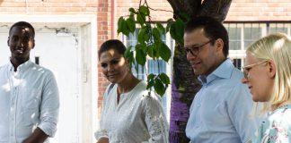 Kronprinsessparet besöker Hammarby Sjöstad