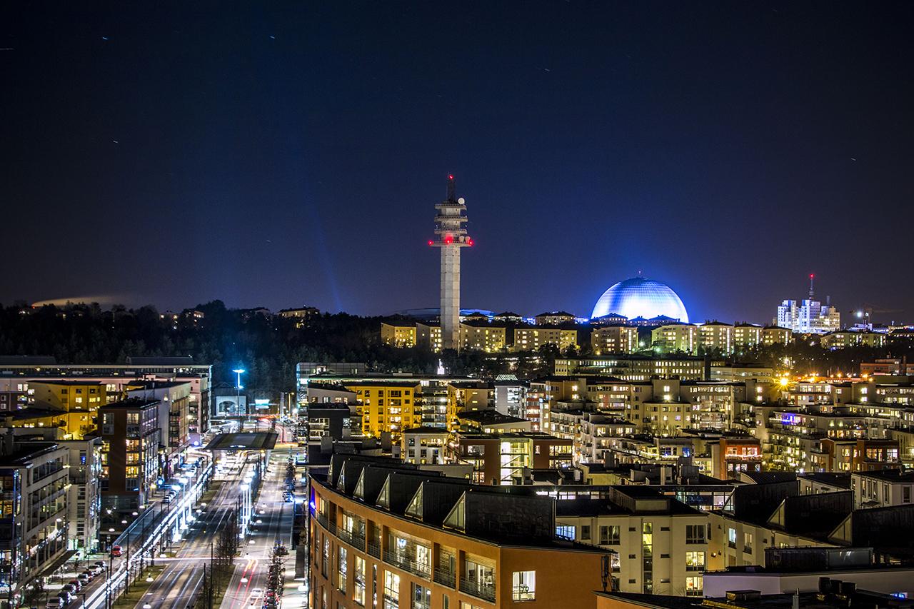 Kväll i Hammarby Sjöstad