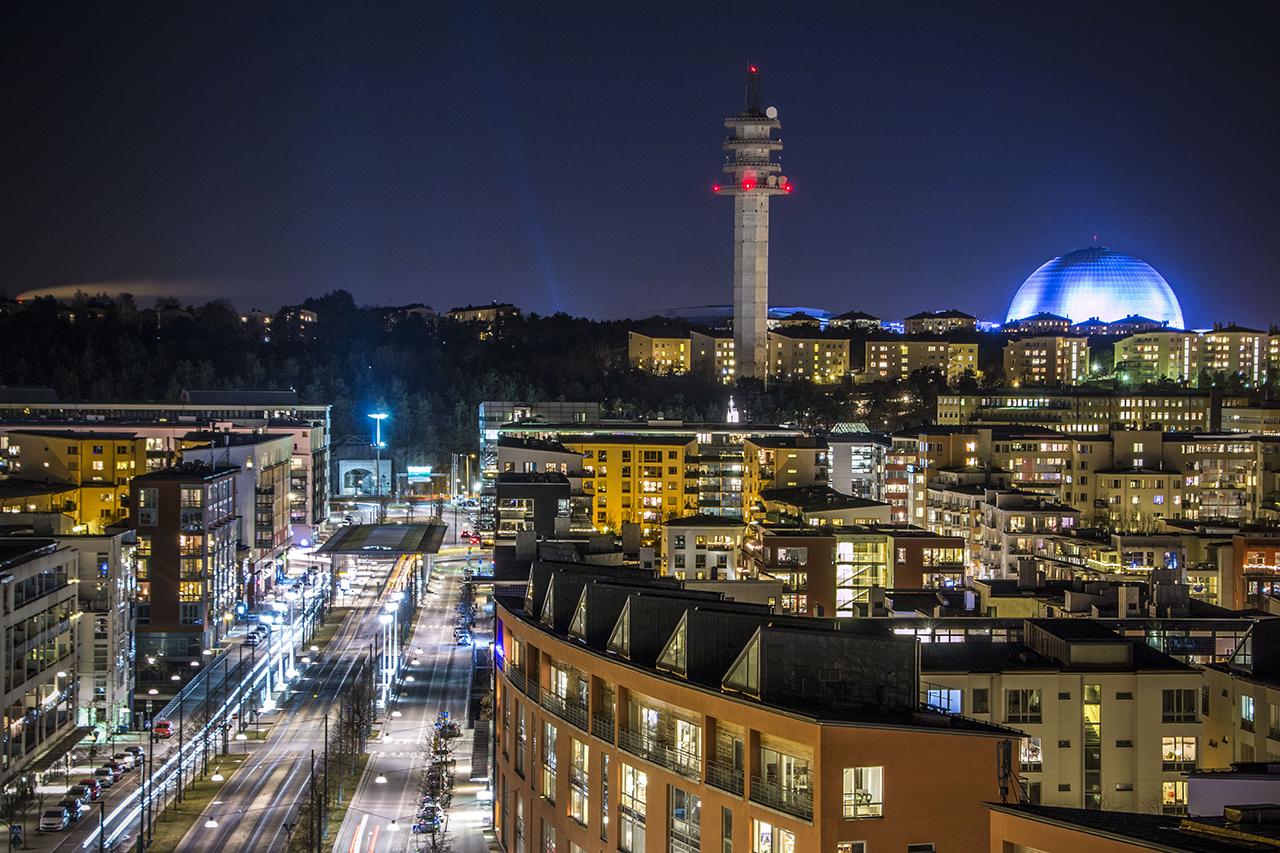 Lugnets Allé i Hammarby Sjöstad