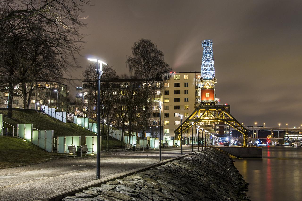 Lyftkranen, natt i Sjöstaden