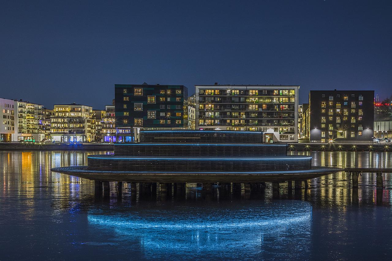 Observatorium i blått FOTO Kirsti Ringhög