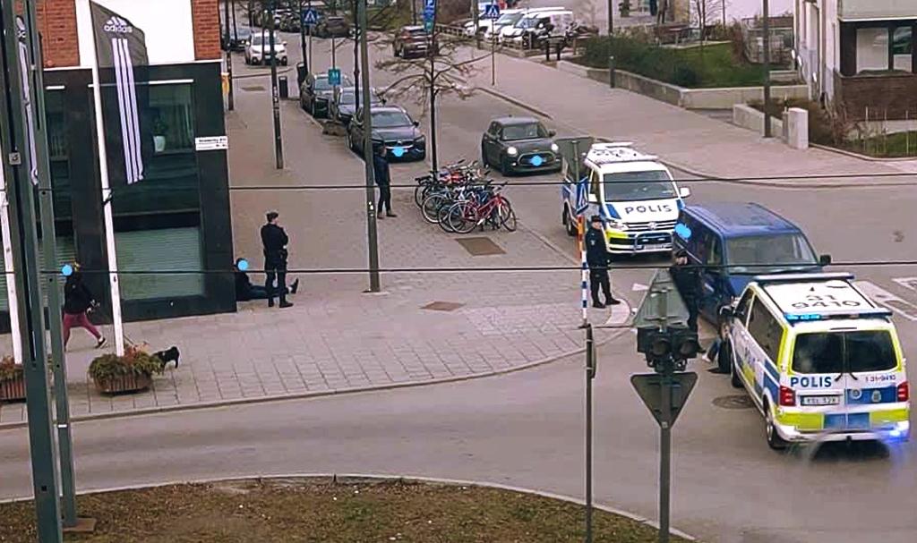 Polisingripande i Hammarby Sjöstad