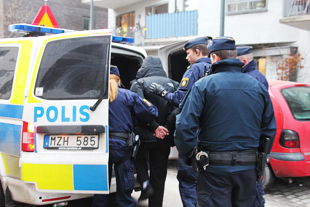 Poliskontroll i Hammarby Sjöstad