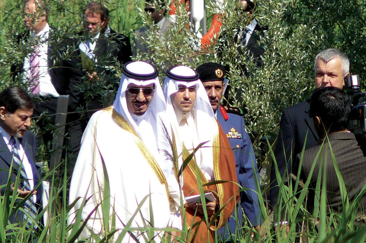 Saudi Arabiens Kung besöker Hammarby Sjöstad