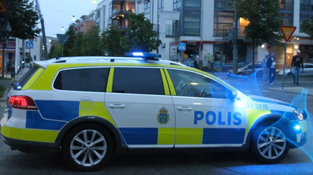 Stort polispådrag i Hammarby Sjöstad