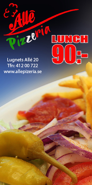 lunch allepizzeria i Hammarby Sjöstad 2021