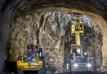 Bygget av tunneln är uppdelad på två entreprenader. Entreprenörerna YIT och Veidekke driver sina tunneldelar parallellt. Bild: Mikael Ullén