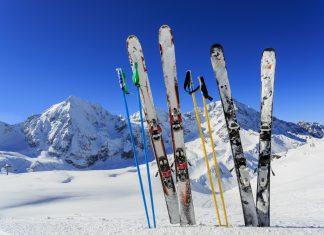 Ski equipments on snow Getty Images/iStockphoto