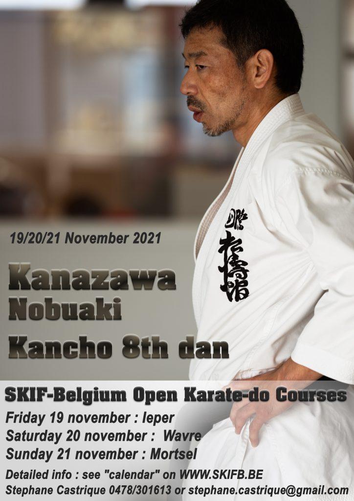 KANAZAWA NOBUAKI KANCHŌ 8TH DAN SKIF - OPEN COURSE @ IEPER - Polyvalente Turnhal, 1e verdiep | Ieper | Vlaanderen | Belgium