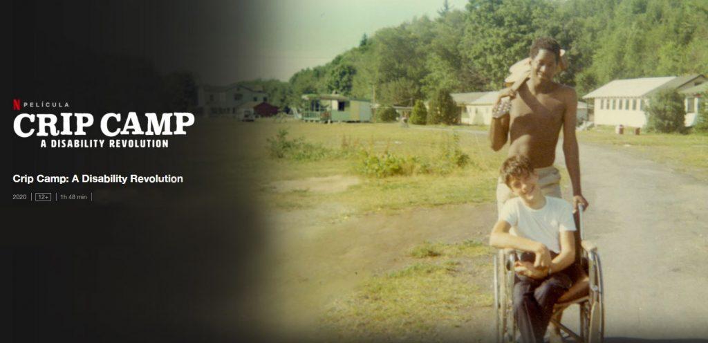 Skjermbilde av Netflix sin side med Crip Camp