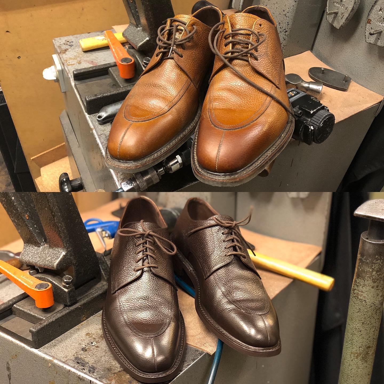 färga skor