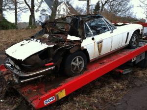 Skrotbilar hämtas i Lysekil för bilskrotning