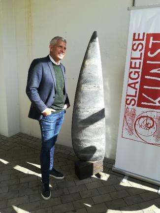 John Dyrby ved Peter Bjørn Skulptur