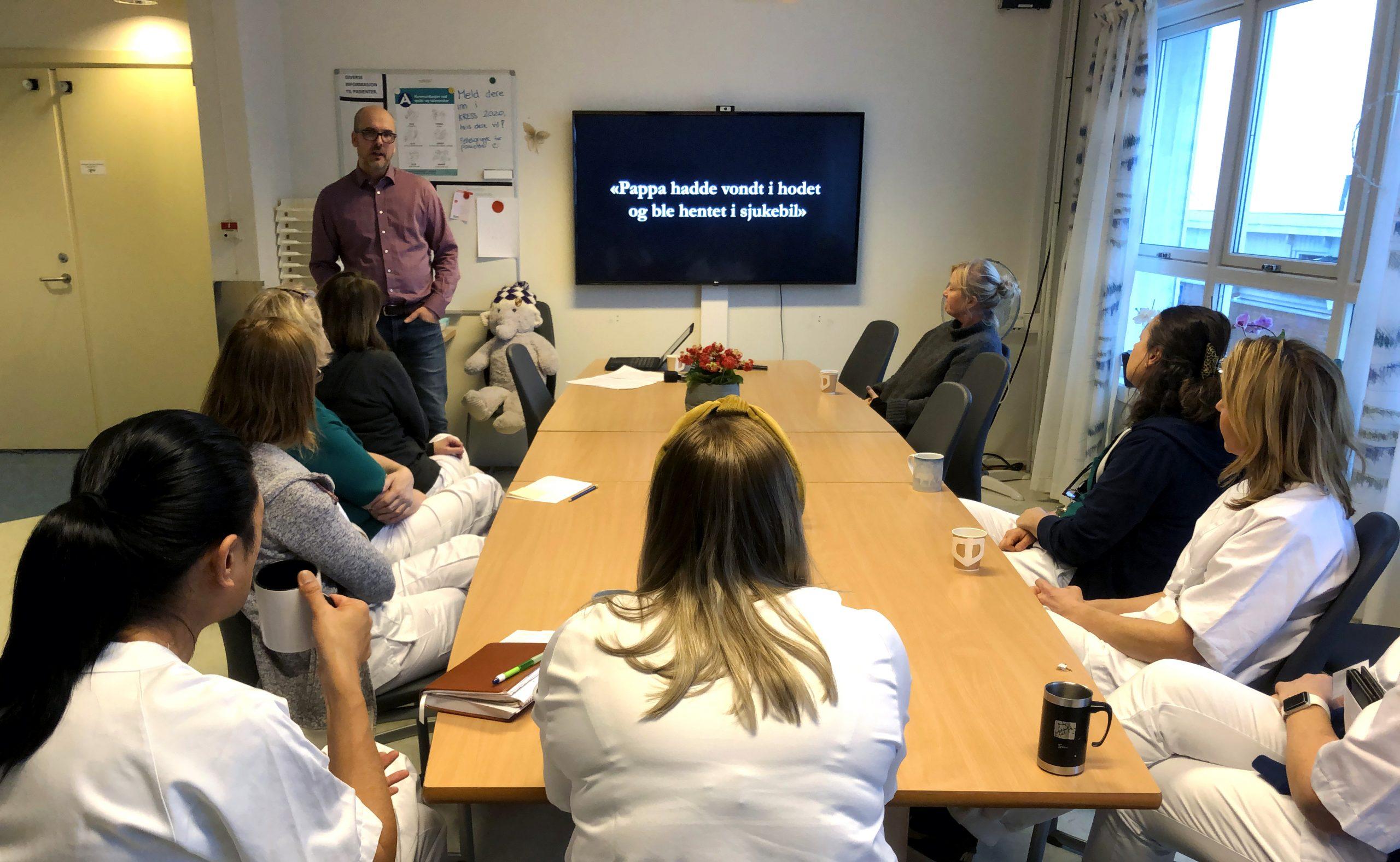 Foredrag på Sunnaas Sykehus om småbarnslivet etter hjerneslag