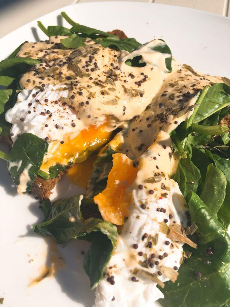 paas ontbijt gezonde eggs benedict