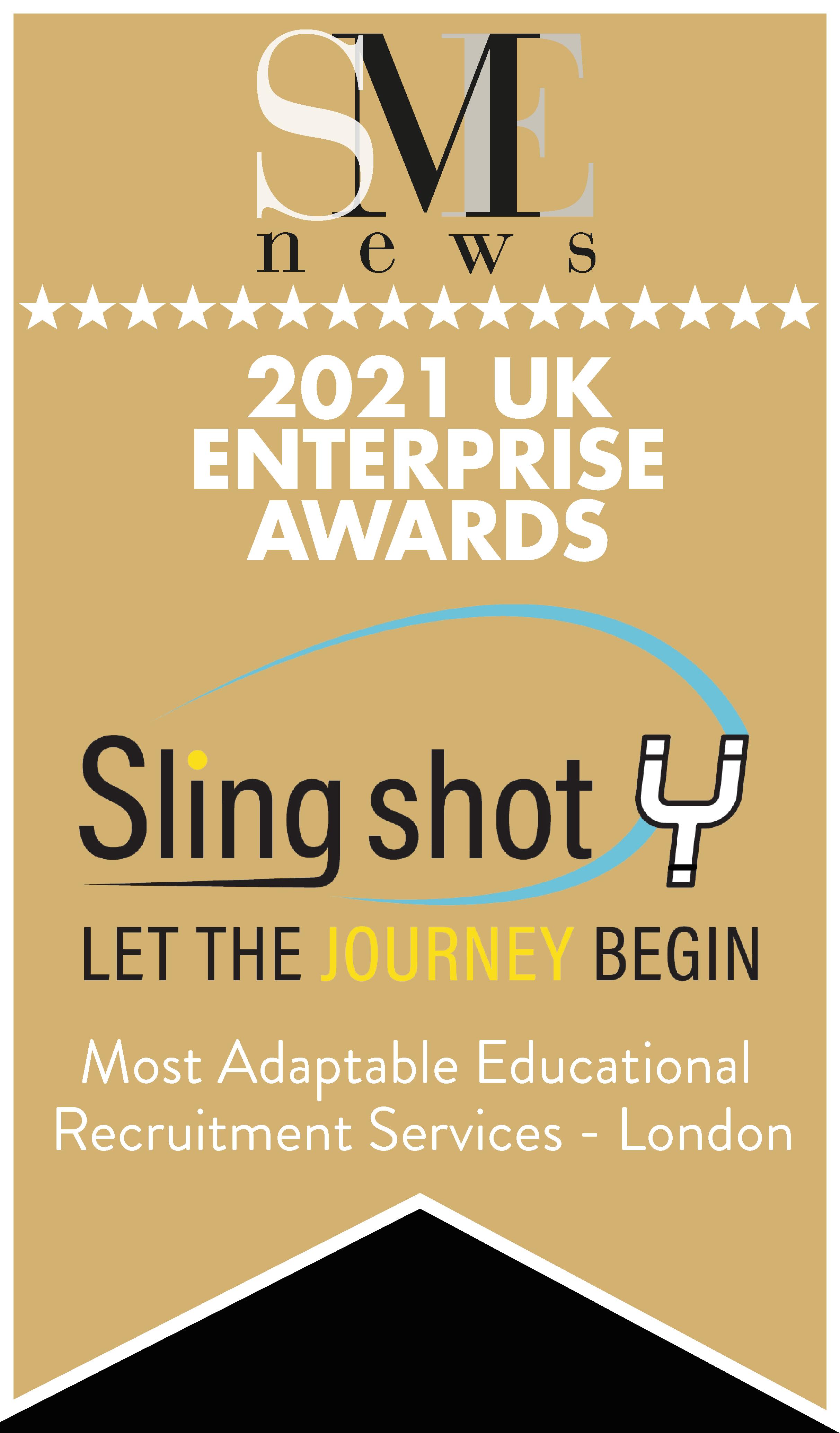 UK Enterprise award Slingshot Award