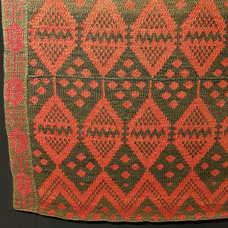 täcke med kant stickat av märtastina abrahamsdotter