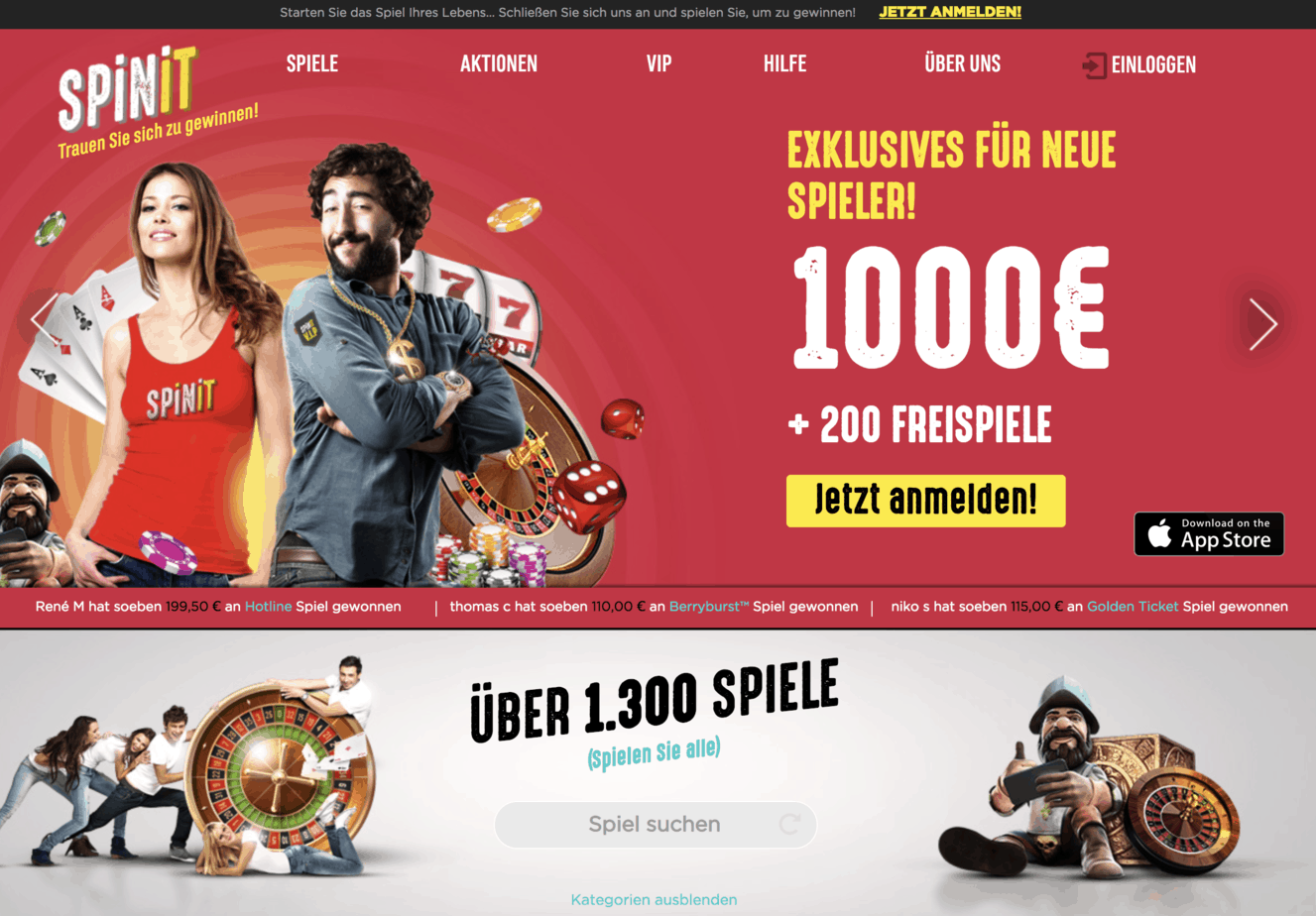 Spinit Casino Test 1 000 Welcome Bonus And 200 Free Spins