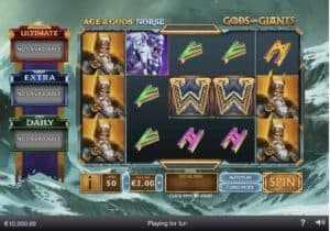 Age of the Gods Norse - Gods and Giants Slot Screenshot