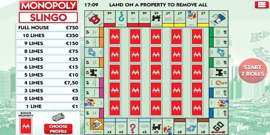 Monopoly slingo slot