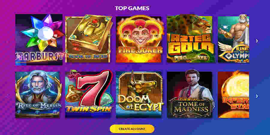 Playluck Casino slots games