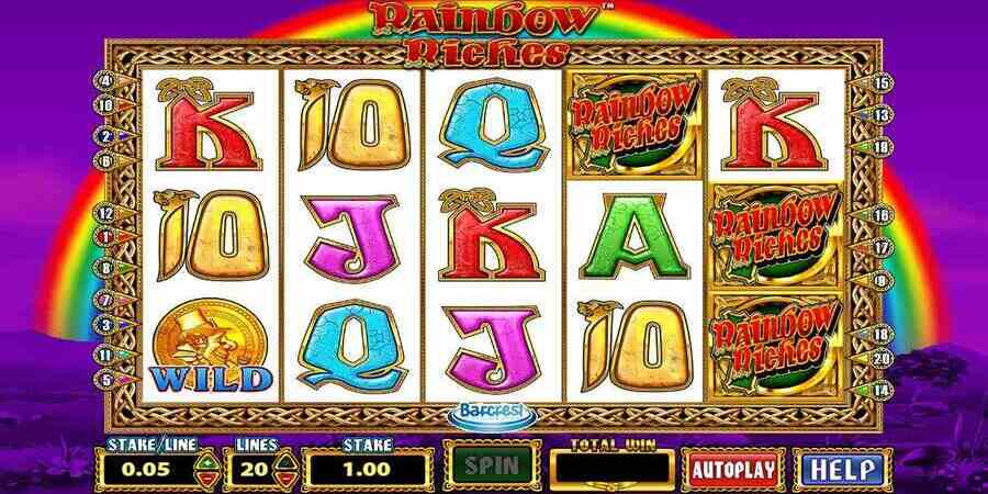 Rainbow Riches slot without wagering requirements