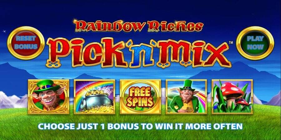 rainbow riches pick n mix high rtp slot