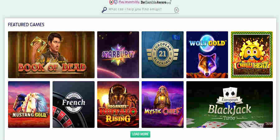 PlayOJO Casino slots games