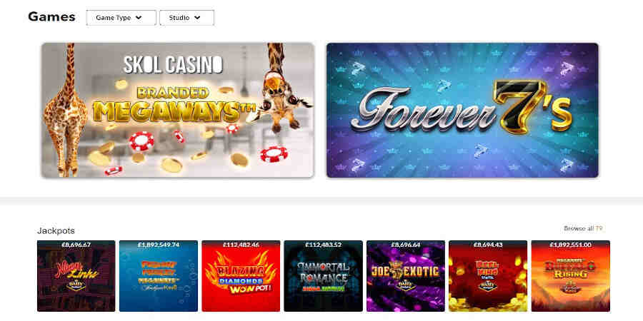 Skol Casino Slots Games