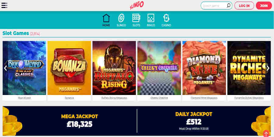 Slingo casino slots games