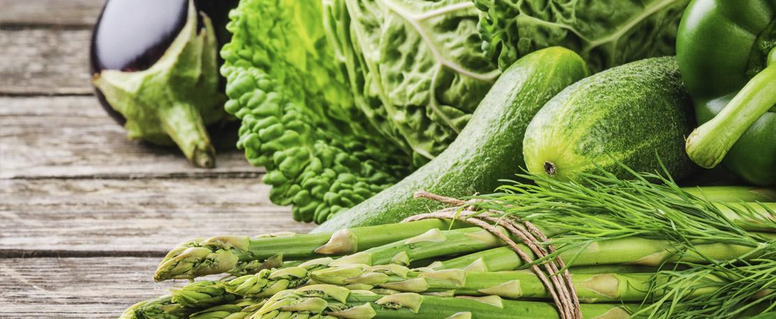 Grünes Gemüse für deinen Slow Juicer