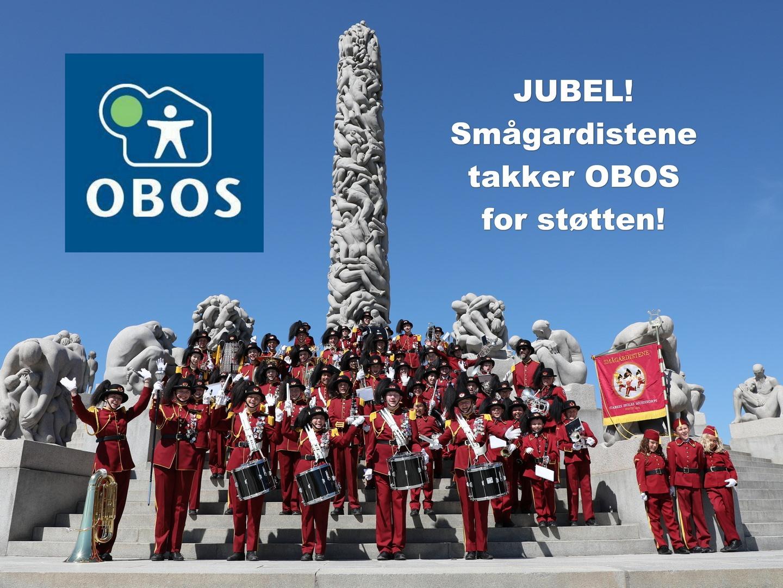 JUBEL!!! Smågardistene har fått støtte fra OBOS