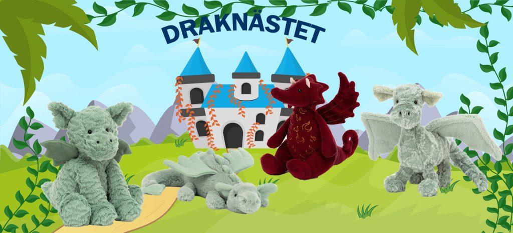 Draknästet är fullt med gosiga drakar