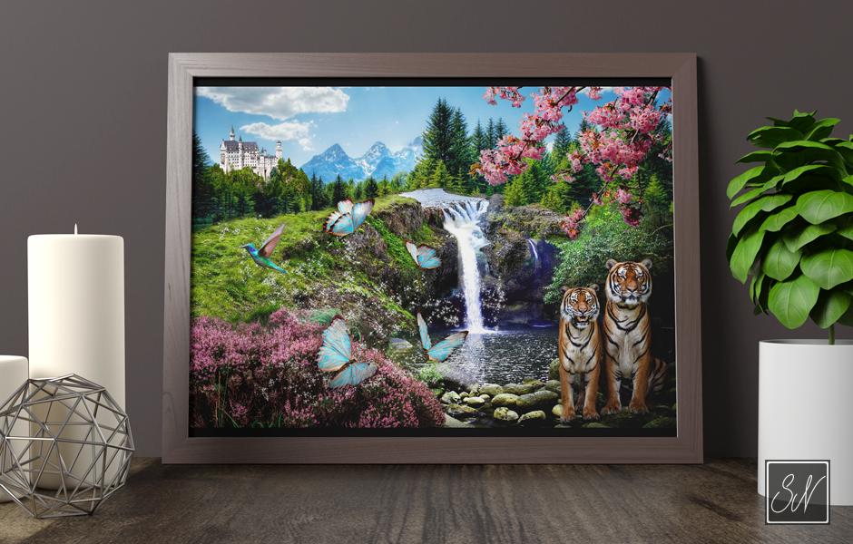 Magical waterfall H2 SN-mediegrafiker